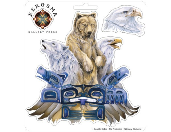 "SKY771 Bergsma Gallery ""Respect Bear"" Sticker"