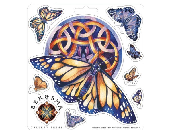 "SKY772 Bergsma Gallery ""Wings of Transformation"" Sticker"