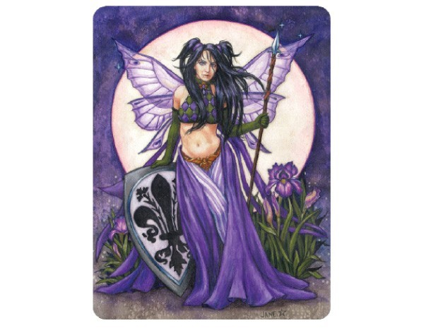 STAR166 Jane Starr Weils Black Iris Sticker