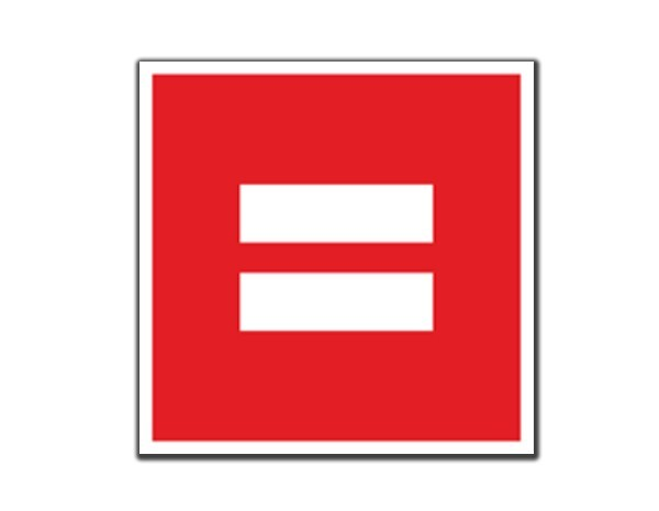 "SKY160 Equality Red 3.5"" Sticker"