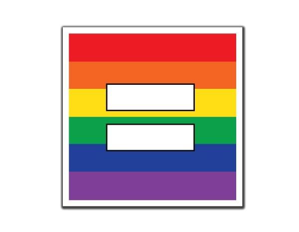 """SKY111 Equality Rainbow 3.5"""" Sticker"""