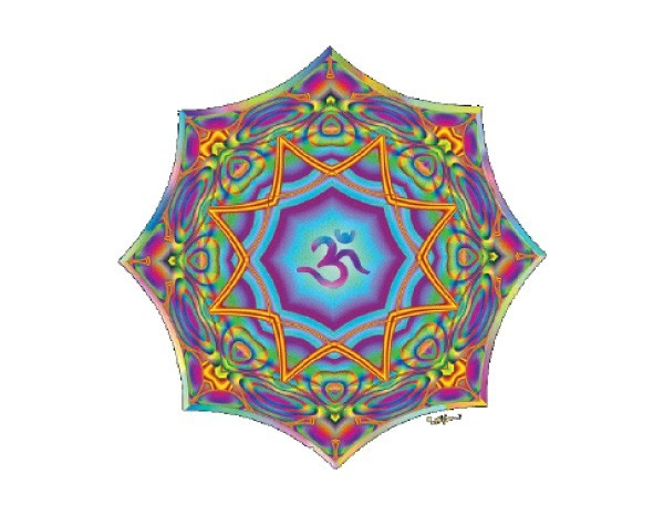 "SKY787 Fractal Spirit ""Prism Lotus"" Sticker"