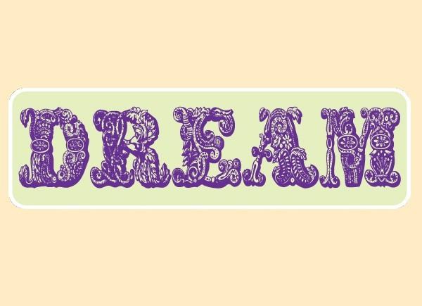 "JR536 Starshine Arts ""Dream"" Mini Bumper Sticker"