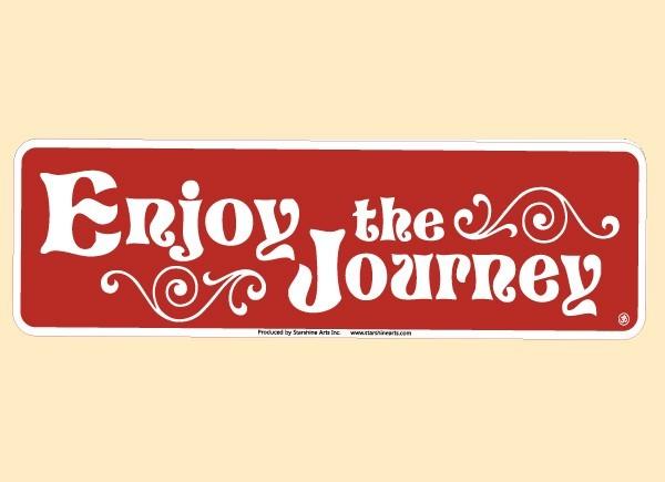 "JR545 Starshine Arts ""Enjoy The Journey"" Mini Bumper Sticker"