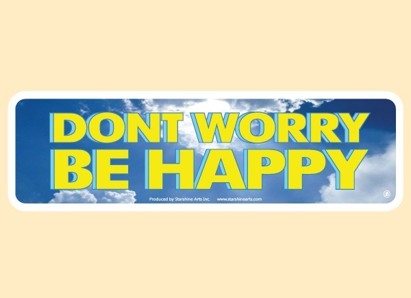 "PC461 Starshine Arts ""Don't Worry Be Happy"" Bumper Sticker"