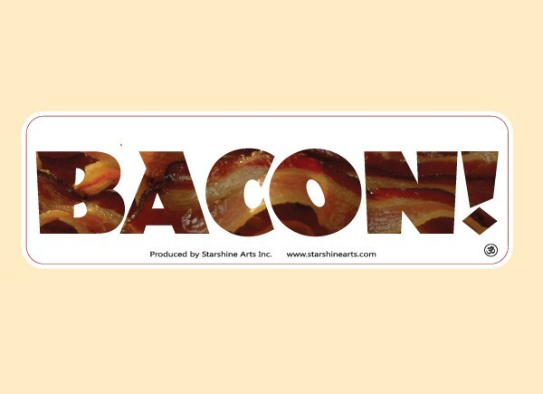 "PC462 Starshine Arts ""Bacon"" Bumper Sticker"