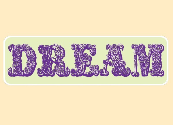 """PC464 Starshine Arts """"Dream"""" Bumper Sticker"""