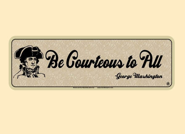 """PC468 Starshine Arts """"Be Courteous To All"""" Bumper Sticker"""