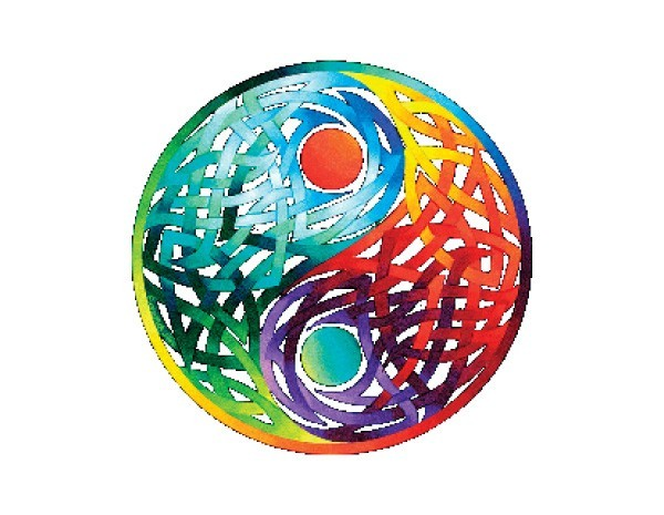 SKY279 Fiona McAuliffe Celtic Yin Yang Sticker