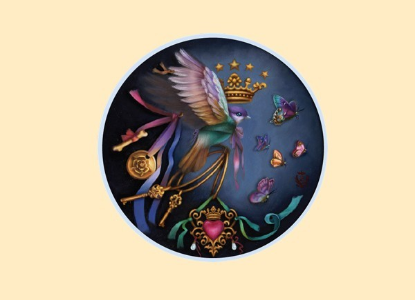 "STAR217  Brigid Ashwood ""Bird Ascension"" Sticker"