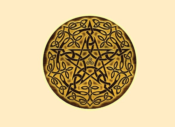 "STAR219  Brigid Ashwood ""Wood Pentacle"" Sticker"