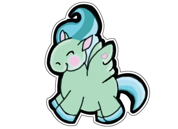 "STAR240 Ash Evans ""Chubby Pegasus"" Sticker"