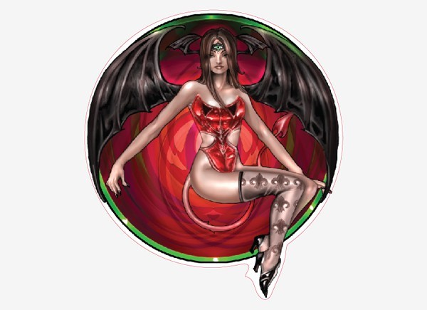 "STAR221 Renee Biertempfel ""Little Devil"" Sticker"