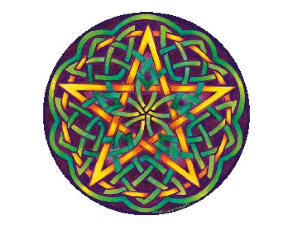 SKY326 Fiona McAuliffe Celtic Pentagram Sticker