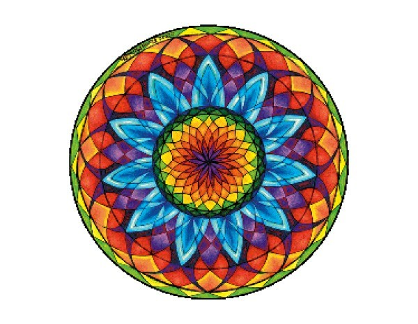 "SKY330 Fiona McAuliffe ""Large 11 Mandala"" Sticker"