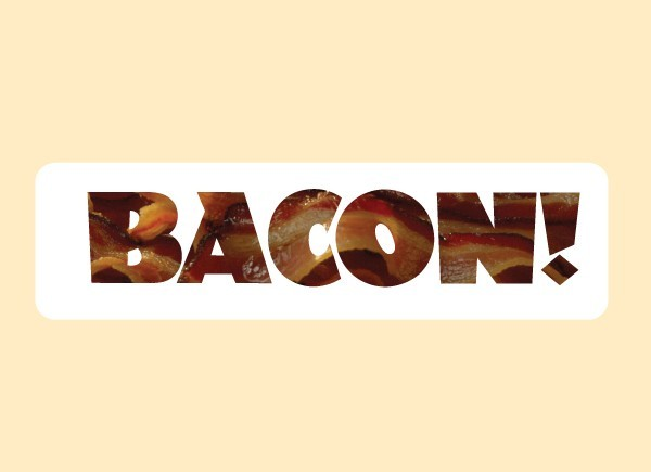 "JR534 Starshine Arts ""Bacon"" Mini Bumper Sticker"