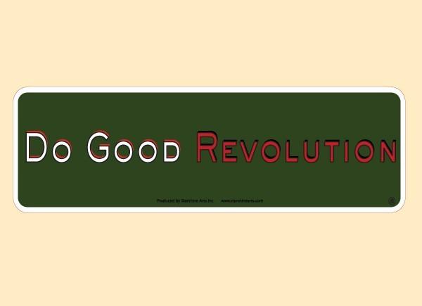 """JR535 Starshine Arts """"Do Good Revolution"""" Mini Bumper Sticker"""