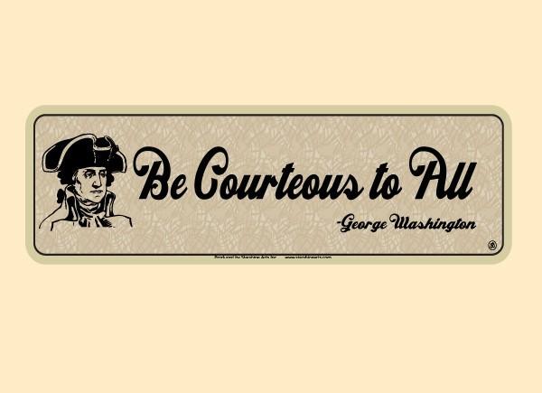 "JR540 Starshine Arts ""Be Courteous To All"" Mini Bumper Sticker"