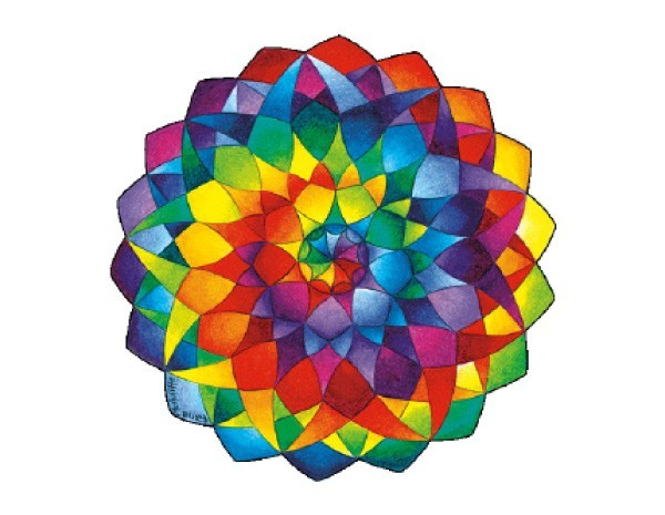 "SKY356 Fiona McAuliffe ""Rainbow Mandala"" Sticker"