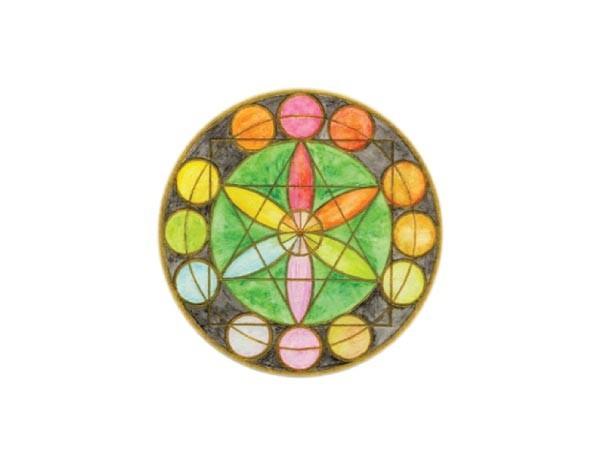 "SKY808 Starshine Arts 3""Circle Mandala""  Sticker"