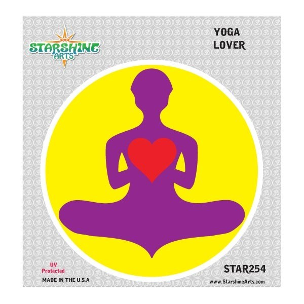 "Star254 Starshine Arts ""Yoga Lover"" Sticker"