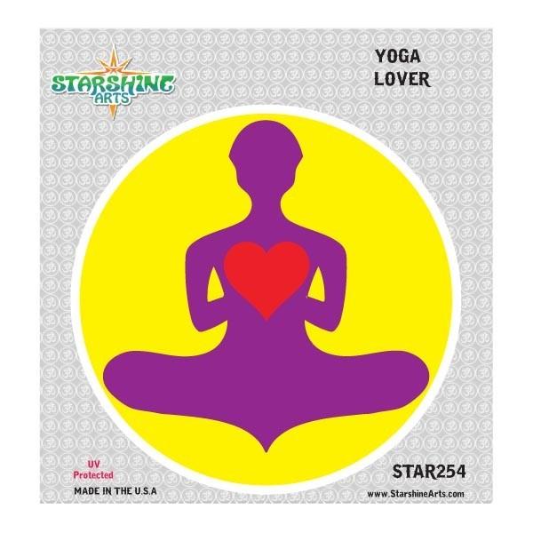 "Star 254 Starshine Arts ""Yoga Lover"" Sticker"