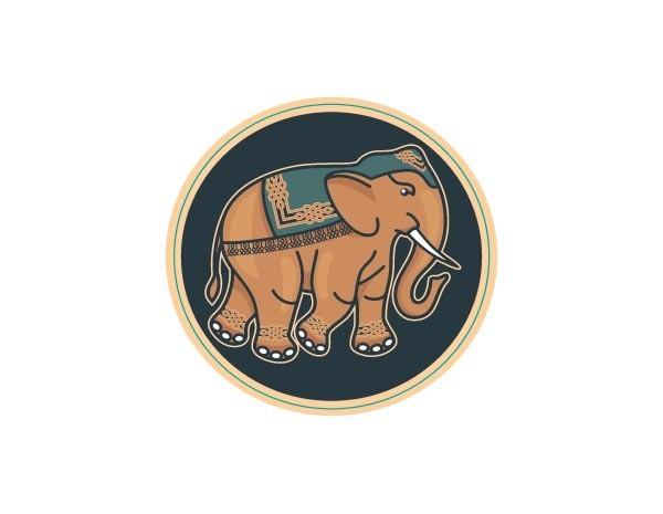 "SKY931 Starshine Arts 3"" Indian Elephant""  Sticker"