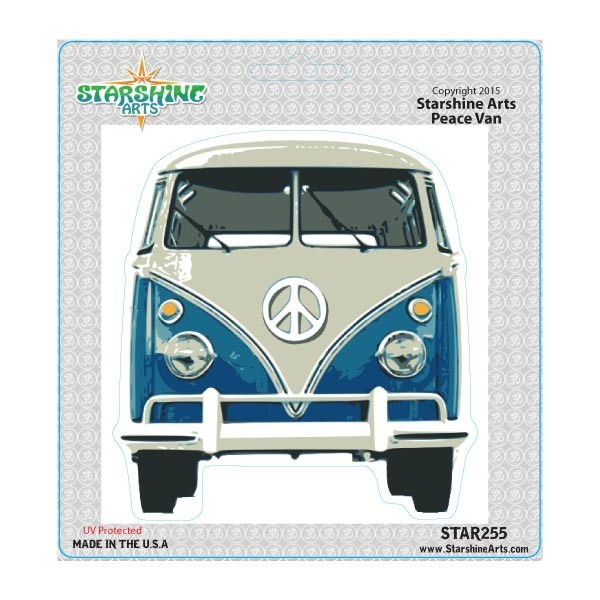 "Star255 Starshine Arts ""Blue Bus"" Sticker"