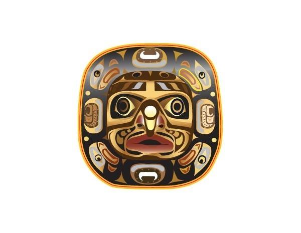 "SKY934 Starshine Arts 3"" Tribal Face""  Sticker"