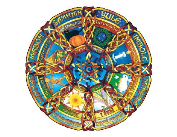 "SKY373 Fiona McAuliffe ""Seasons Pentagram"" Sticker"