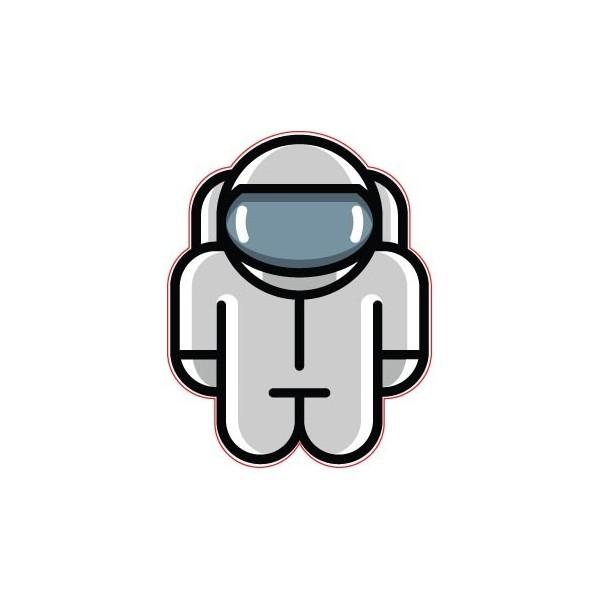 "SKY937 Starshine Arts 3"" Space Robot""  Sticker"