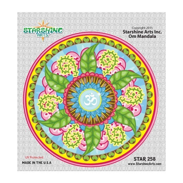 """Star258 Starshine Arts """"Om Mandala"""" Sticker"""