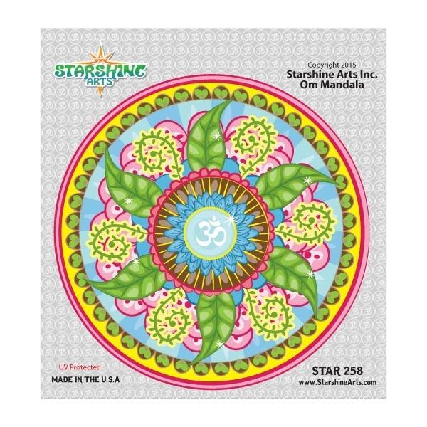 """Star 258 Starshine Arts """"Om Mandala"""" Sticker"""