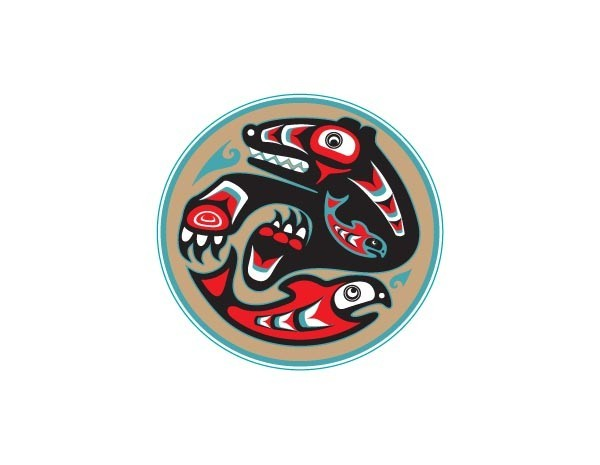 "SKY938 Starshine Arts 3"" Catching Salmon""  Sticker"