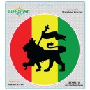 "Star 270 Starshine Arts ""Rasta Lion Flag"" Sticker"