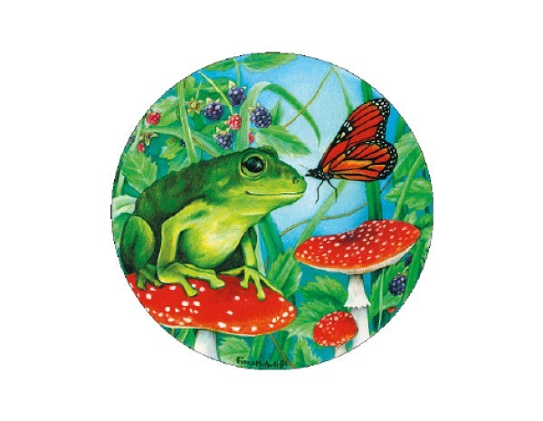 "SKY115 Fiona McAuliffe 3"" Frog and Butterfly Sticker"
