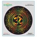 "Star 273 Starshine Arts ""Black OM Lotus"" Sticker"