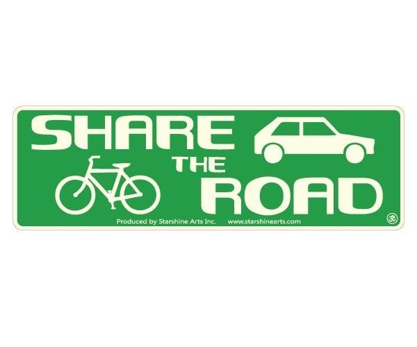 "JR611 Starshine Arts ""Share The Road"" Mini Bumper Sticker"