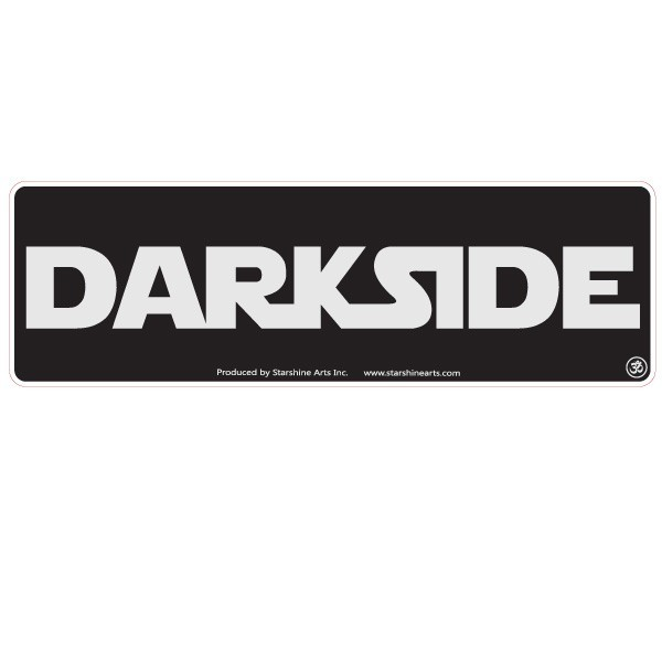 "JR614 Starshine Arts ""Darkside"" Mini Bumper Sticker"