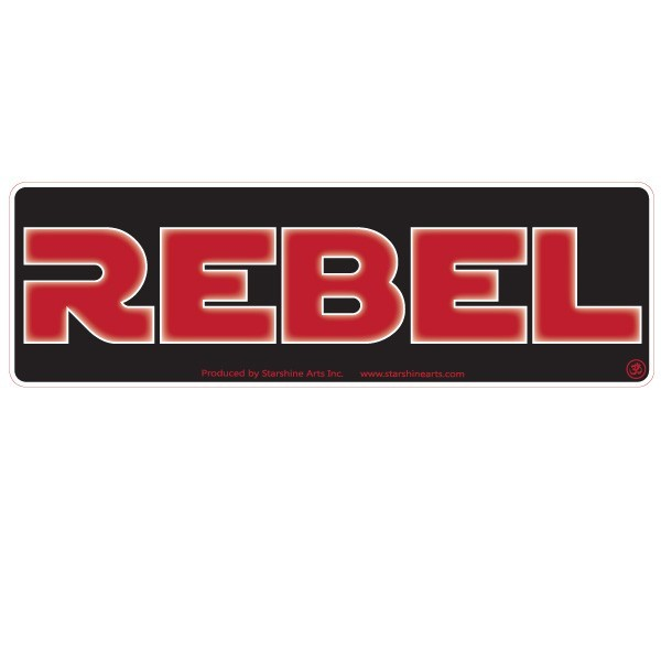 "JR615 Starshine Arts ""Rebel"" Mini Bumper Sticker"