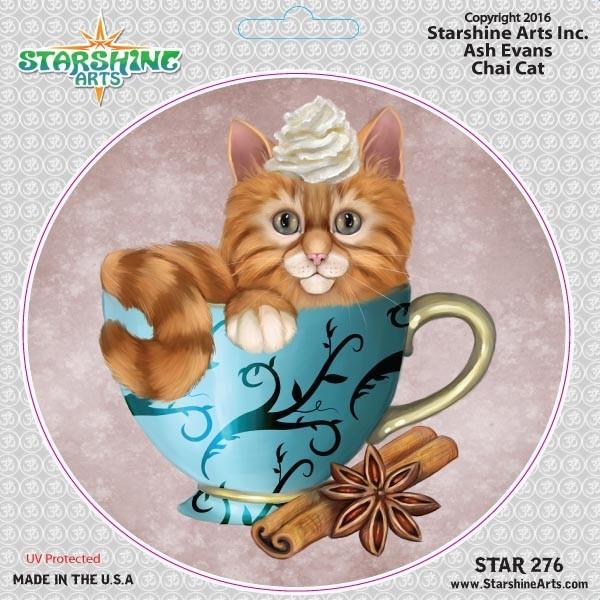 "STAR276 4.5"" ""Chai Cat"" Sticker"