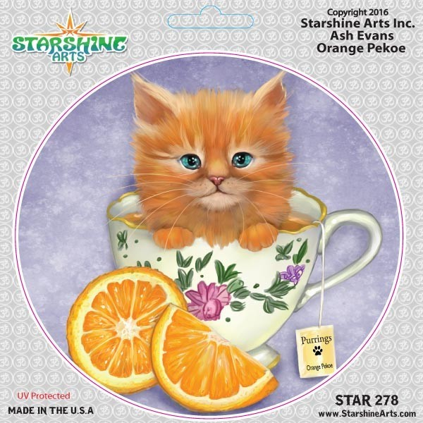 "STAR278 4.5"" ""Orange Pekoe Cat"" Sticker"
