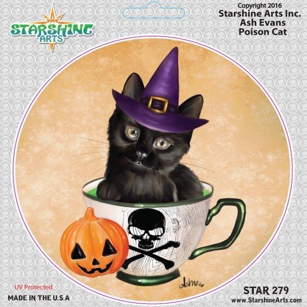 """STAR279 4.5"""" """"Poison Cat"""" Sticker"""