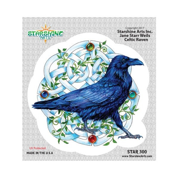 "STAR300 4.5"" ""Celtic Raven"" Sticker"