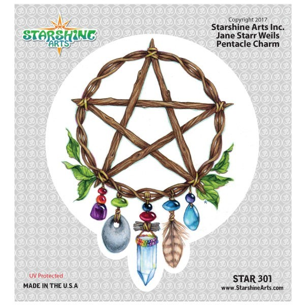 "STAR301 4.5"" ""Pentacle Charm"" Sticker"