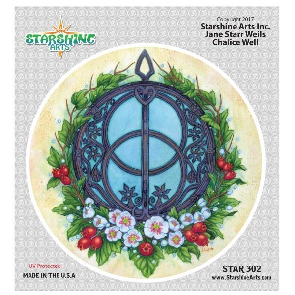 """STAR302 4.5"""" """"Chalice Well"""" Sticker"""