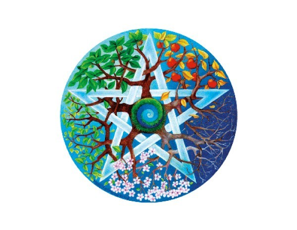 "SKY623 Fiona McAuliffe 3""  Seasons Pentagram Sticker"