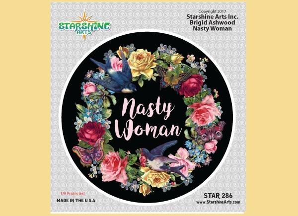 """STAR287 4.5"""" """"Nasty Woman"""" Sticker"""