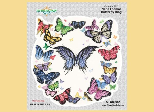 "STAR282 4.5"" ""Dark Butterfly Ring"" Sticker"