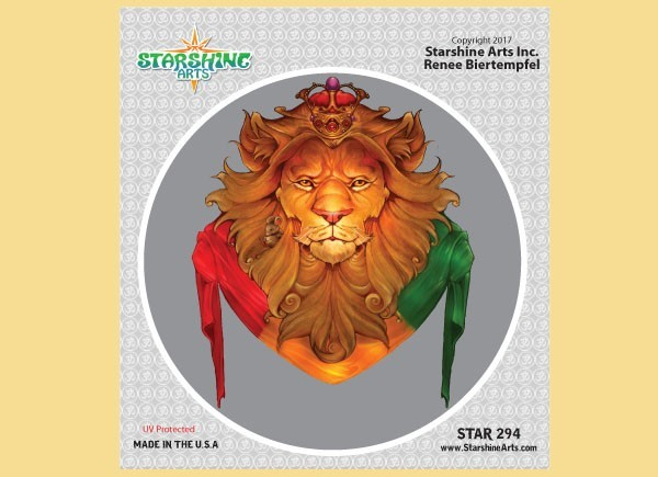 "STAR294 4.5"" ""Rasta Lion"" Sticker"